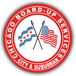 chicago board-up service logo
