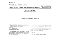 chicago board-up services US patent and trademark